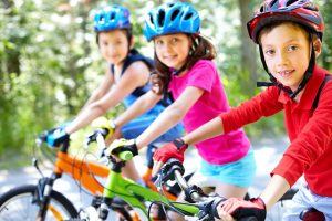Children With Bikes