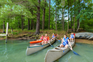 Falcon Camp canoe activity