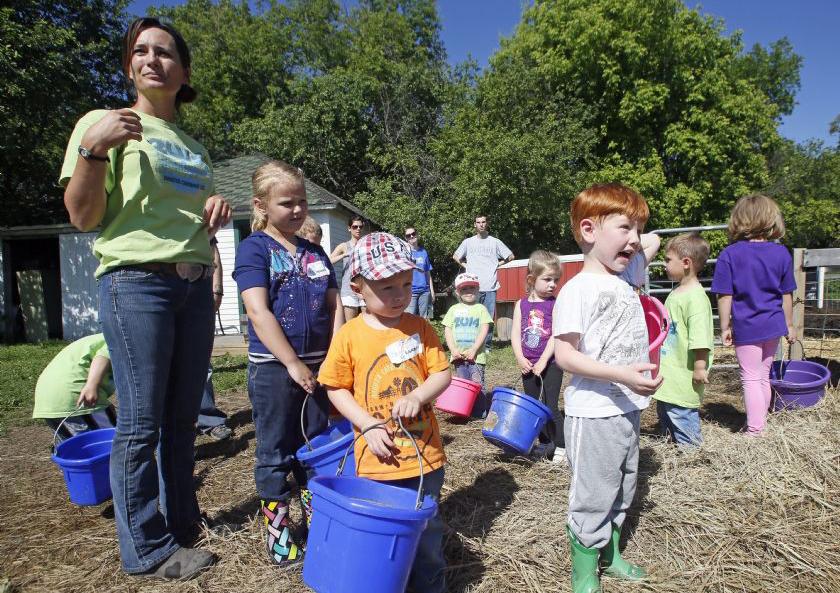 Kids having fun in Little Farmers Camp